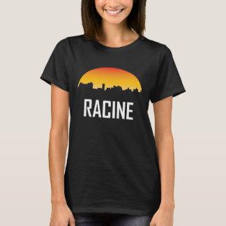 Racine Wisconsin Sunset Skyline T-Shirt