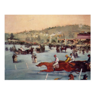 Racing at the Bois de Boulogne - Edouard Manet Postcard