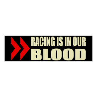 Racing Blood Poster