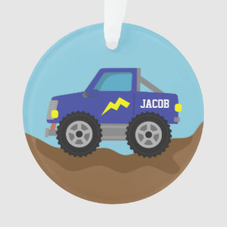 Racing Blue Monster Truck, for Boys Ornament