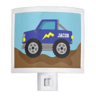 Racing Blue Monster Truck, for Boys Room Night Light