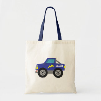 Racing Blue Monster Truck, for Boys Tote Bag