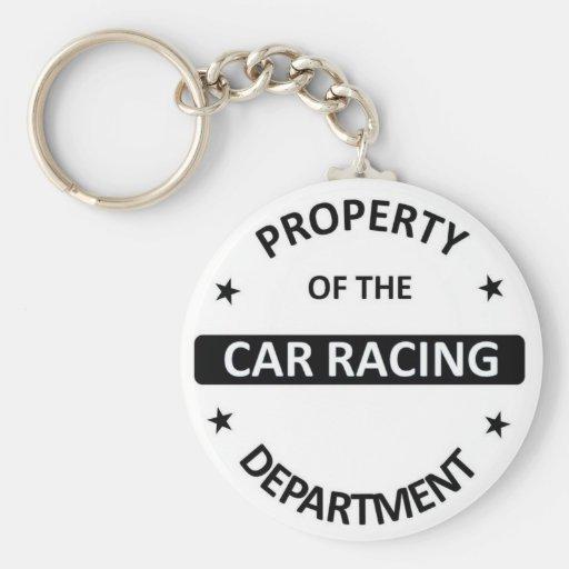 Racing Car Department Key Chain