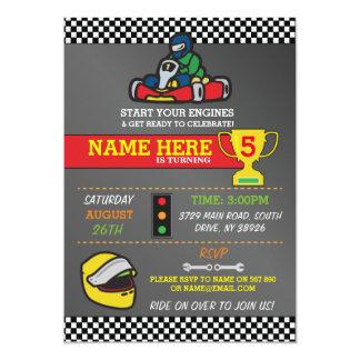 Racing Car Go Karting Kart Birthday Party Invite