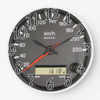 Racing car Odometer design Wall Clock