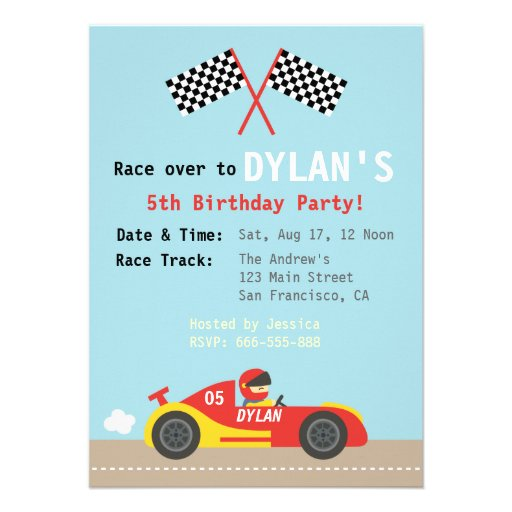 Racing Car Theme Birthday Party For The Boys Zazzle