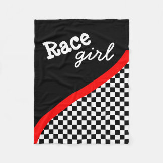 Racing Checkered Flag Fleece Blanet