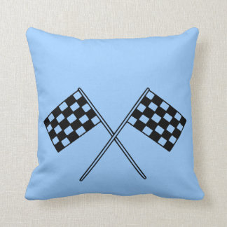 Racing Checkered Flags Throw Pillow