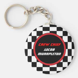 Racing Checkers Custom Keyring Basic Round Button Keychain