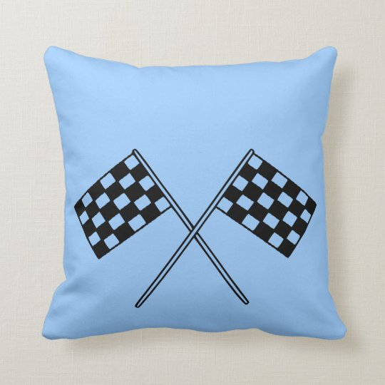Racing Chequered Flags Throw Pillow