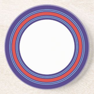 Racing colors for a sports driver drink coasters