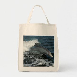 Racing Dolphin Tote Bag