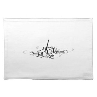 Racing Drone Quadcopter Place Mat