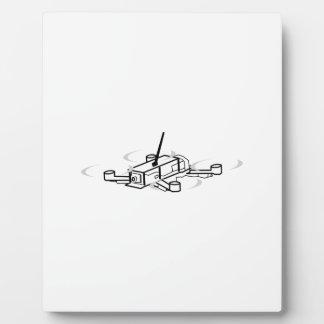 Racing Drone Quadcopter Plaque