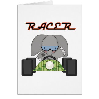 Racing Elephant T-shirts and Gifts Card