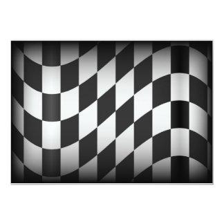 "Racing Flag 5"" X 7"" Invitation Card"