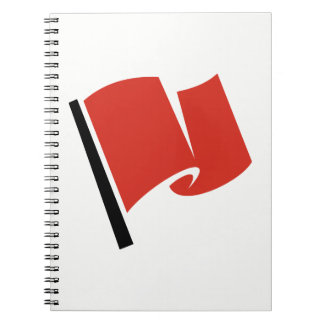 Racing Flag Red Spiral Notebook