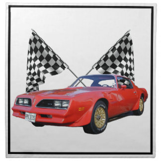 Racing Flags and Hot Rod Cloth Napkins