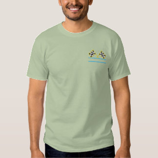 Racing Flags Embroidered T-Shirt