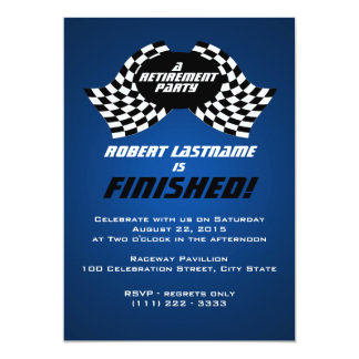 Racing Flags Retirement Party Card