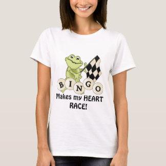 Racing Frog Bingo womens t-shirt