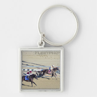 Racing from Aqueduct Silver-Colored Square Keychain