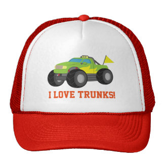 Racing Green Monster Truck for Racer Boys Trucker Hat
