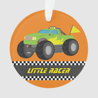 Racing Green Monster Truck Racer Boys Room Decor Ornament
