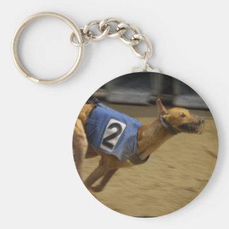 Racing Greyhound Keychain