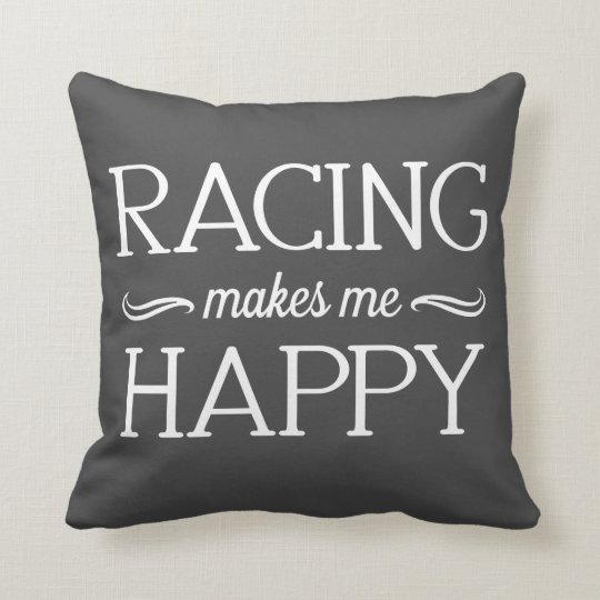 Racing Happy Pillow - Assorted Styles & Colours