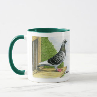 Racing Homer On the Landing Board Mug