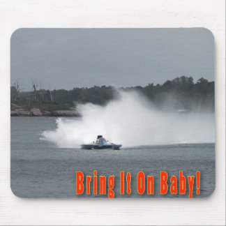 Racing Hydroplane Mouse Pad