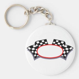 Racing Logo Basic Round Button Keychain