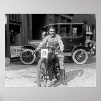 Racing Motorcycle, 1922 Poster