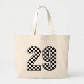 racing number 29 large tote bag