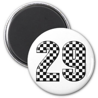 racing number 29 2 inch round magnet