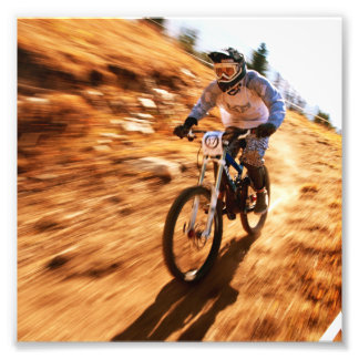 Racing Offroad Dirtbike Photographic Print