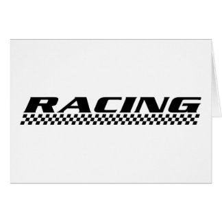 Racing ~ Pop Culture Fashion Greeting Card