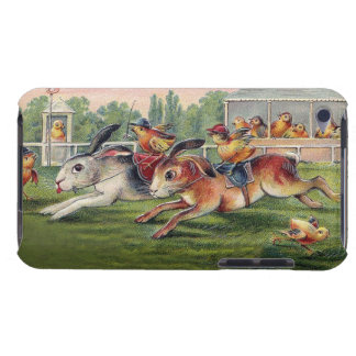 Racing Rabbits and Chicken Jockeys - Cute and Fun iPod Touch Case