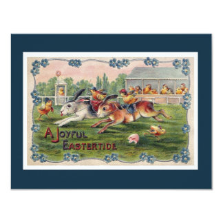 Racing Rabbits - Cute Easter Party Invitation