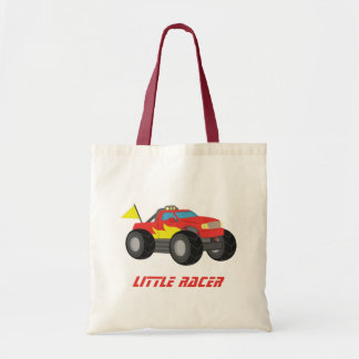 Racing Red Monster Truck Boys Personalized Tote