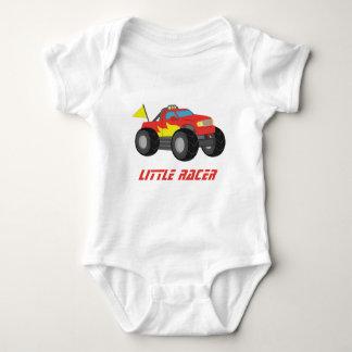 Racing Red Monster Truck, for Baby Boys Baby Bodysuit