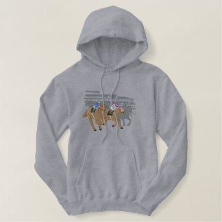 Racing Scene Embroidered Hoodie