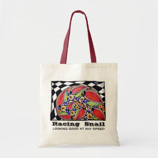 Racing Snail Tote Bag