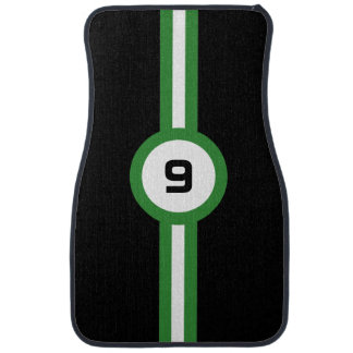 Racing Stripes Auto Floor Mats - green Car Liners