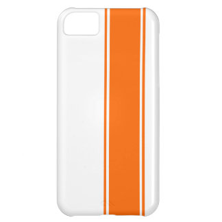 Racing Stripes - Orange iPhone 5C Cover