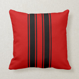 Racing Stripes Throw Pillow