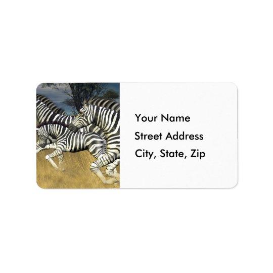 Racing Stripes - Zebra Address Labels