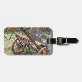 Racing sulky used in harness racing luggage tag