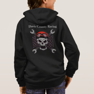 Racing Sweatshirt for Boys Skull Racing Flag